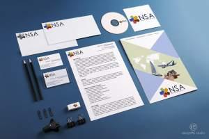 NSA Corporate Brand identity