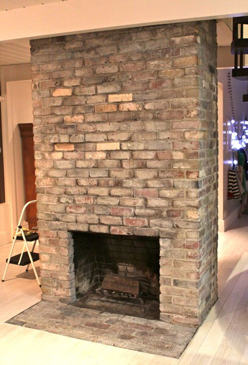 How To Gray Wash A Red Brick Fireplace Image Collections 2018