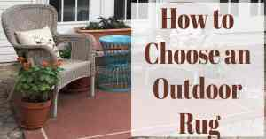 How to Choose an Outdoor Rug
