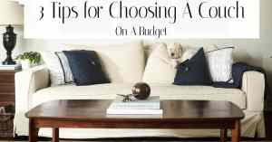 Tips for Choosing a sofa on a budget