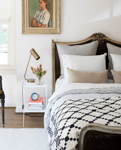 Layered bedding from schoolhouse