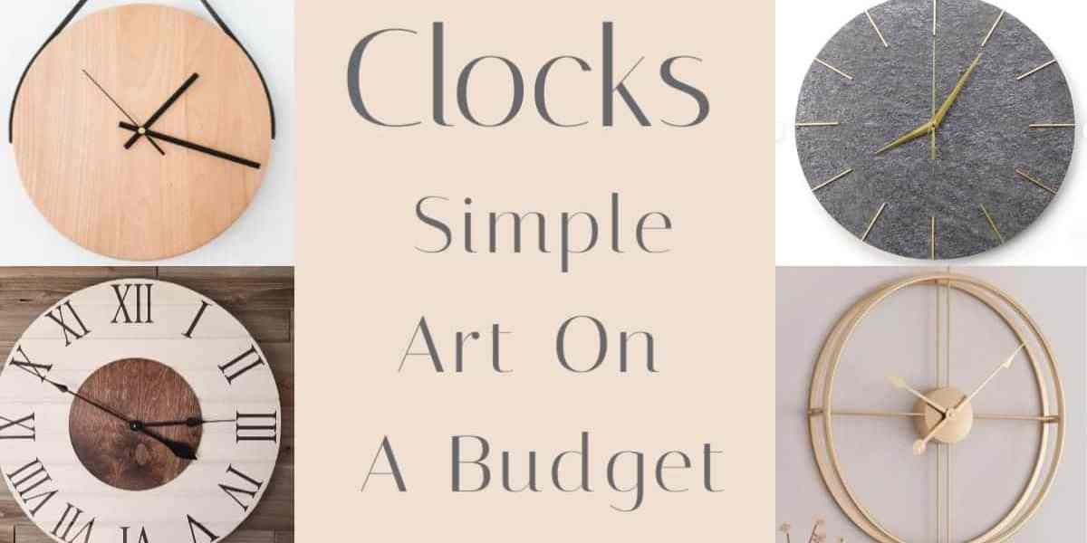 Simple Wall Clock Decor Ideas