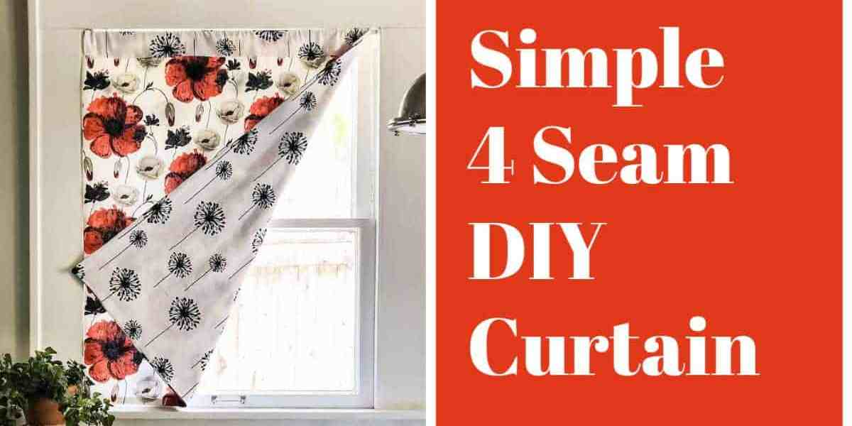 simple 4 seam diy curtain