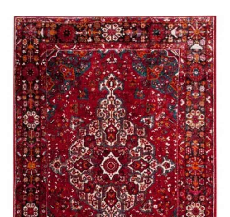 Targe red vintage rug
