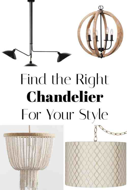 No matter what style you identify with a chandelier can really up your room's game.  Find the right chandelier for your budget