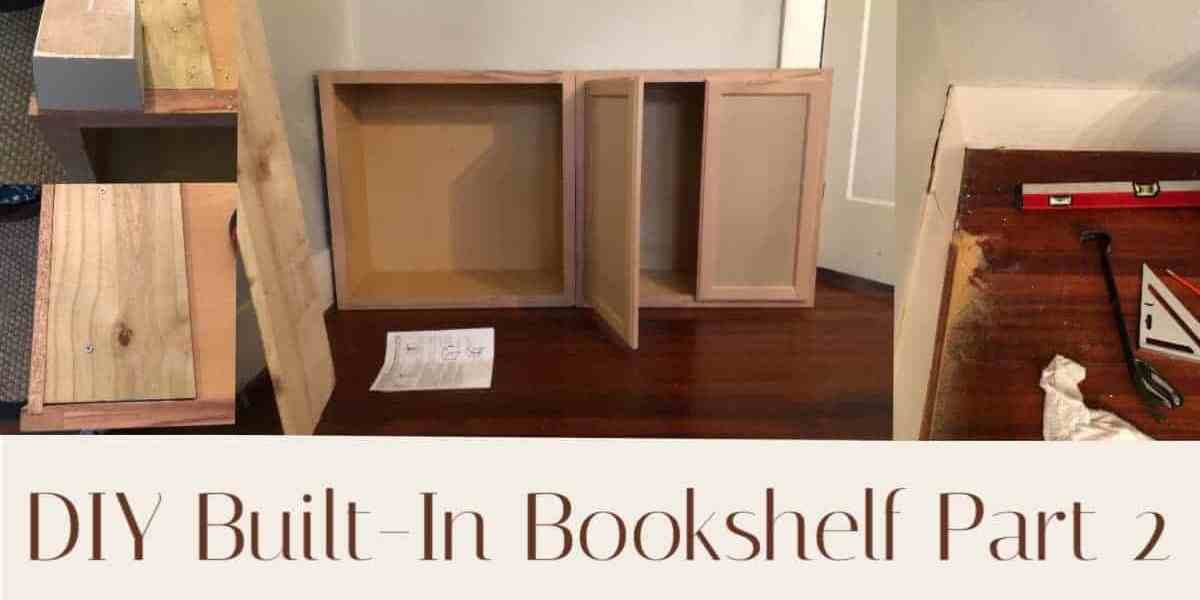 diy built in bookshelf part 2
