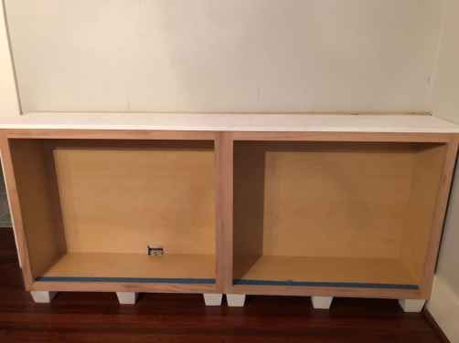 installed base cabinets