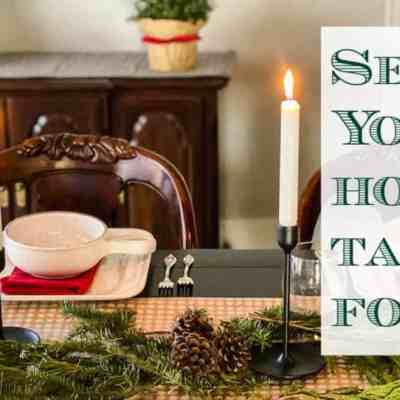 Simple Christmas Table Setting for $10