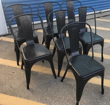 metal chairs found on Facebook