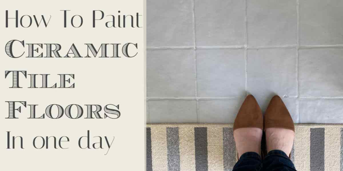 How to Paint Your Nasty Tile Floors In One Day