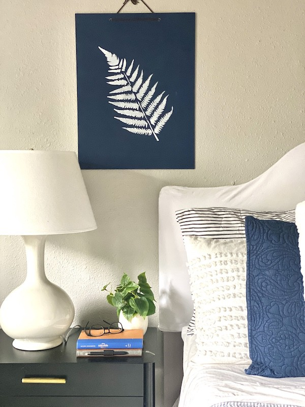 Ferns in the bedroom