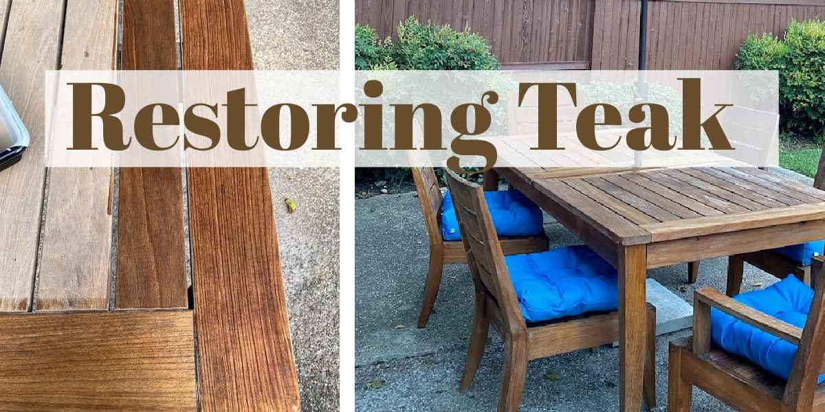 Refinishing Teak Furniture
