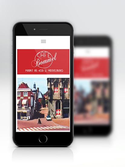 cafe bommel middelburg mobiele website
