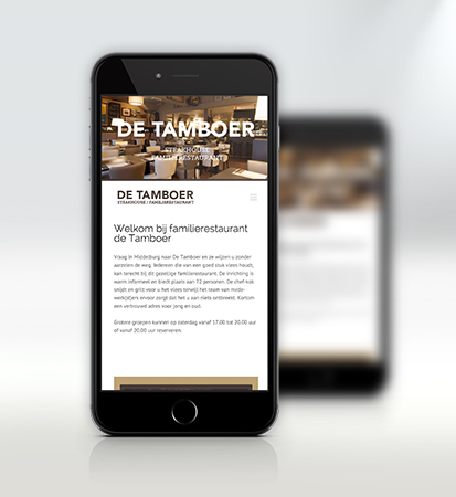 tamboer mobiele website