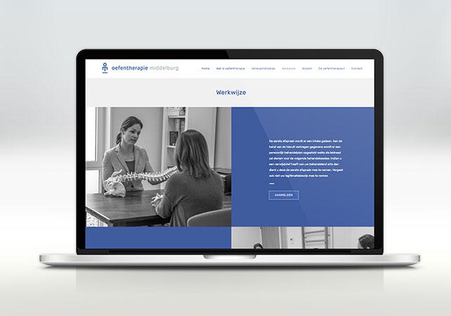 oefentherapie middelburg webdesign