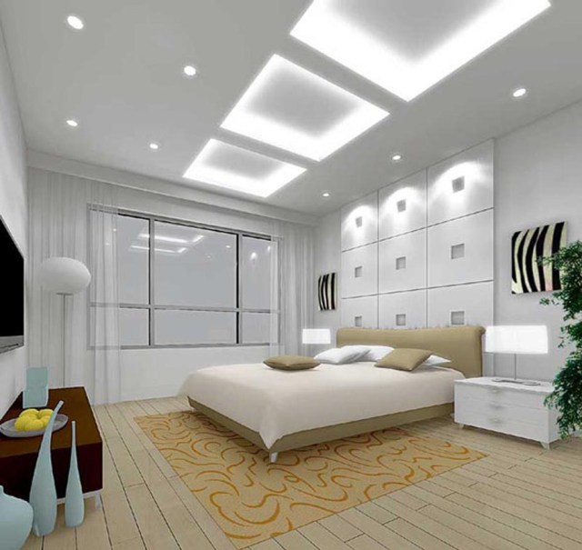 Bedroom With High Ceilings