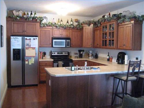 Above Kitchen Cabinet Decor Design On Vine
