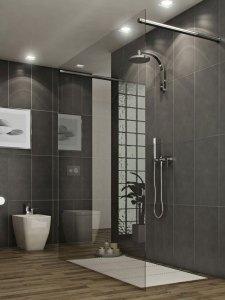 Glass Tile Bathroom Ideas UQhy