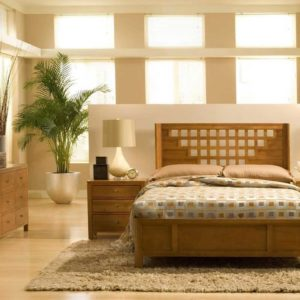 Simple wooden bedroom design ideas