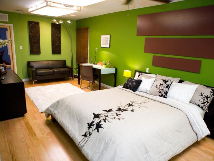 Ideal Concept For Bedroom Decorating Ideas Using Green
