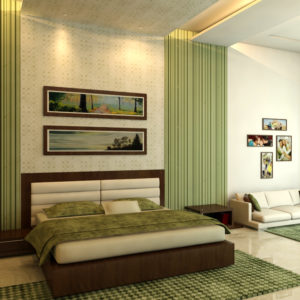 bedroom design ideas using green concept
