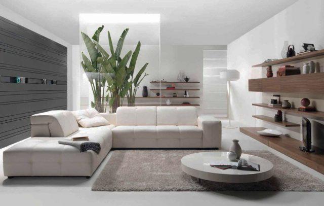 Modern contemporary living room decorating idea