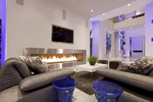 White decoration for living room
