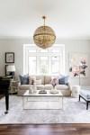 minimalist formal living room