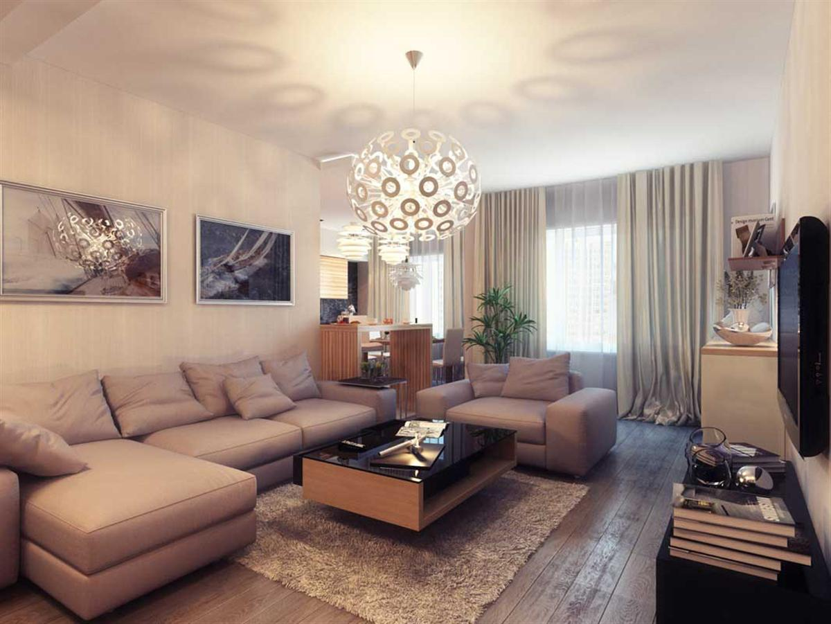 decorate living room with furniture