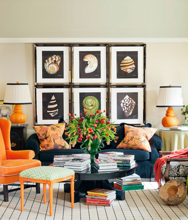 Photo frames in living room accessories