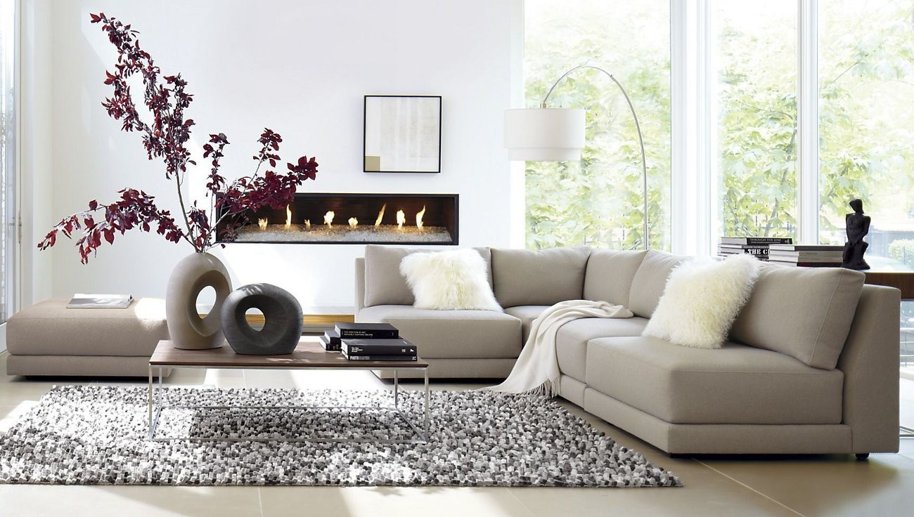 Awesome modern living room using white