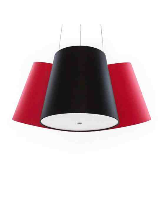 red black red Cluster lamp frauMaier