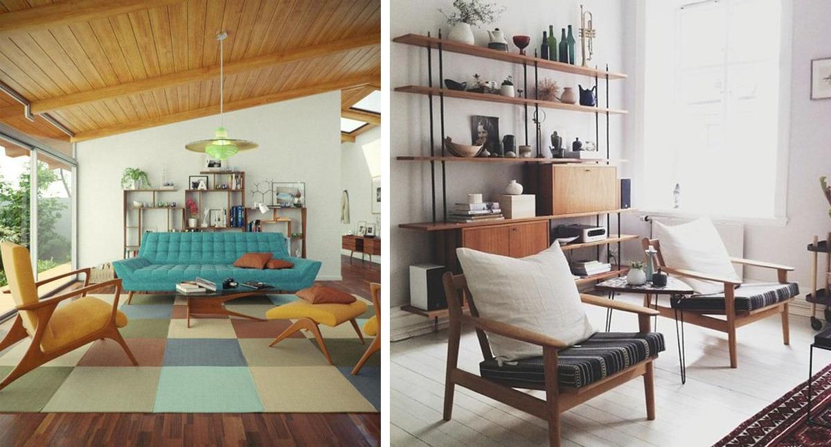 Wohnräume Im Mid Century Stil