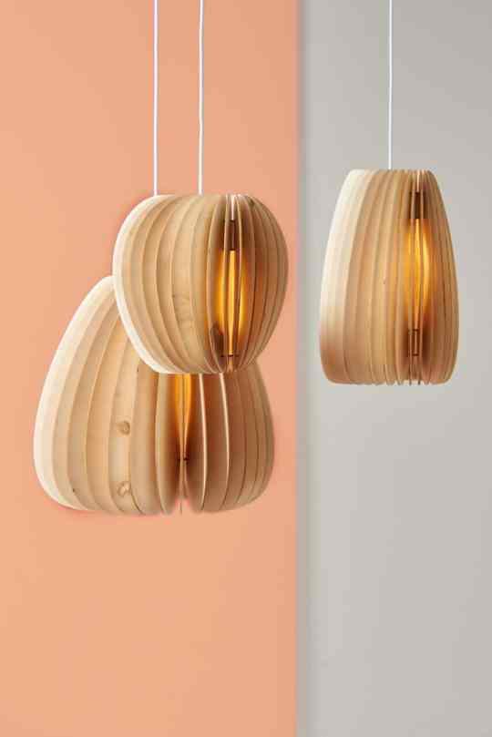 Holzleuchten aus nachhaltiger Produktion Serie A
