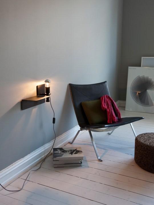 Wandleuchte Sunday im Wohnzimmer Designort