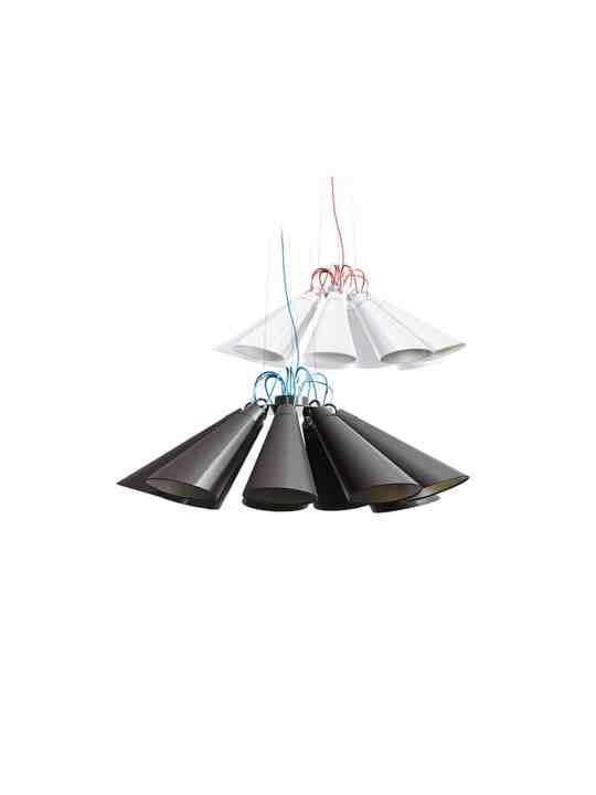 Pendelleuchten PIT 9 in schwarz und weiss von Domus Licht, DesignOrt Onlineshop