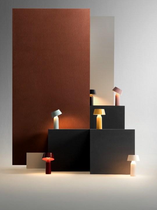 farbenfrohe Tischleuchte Bicoca von Marset LED