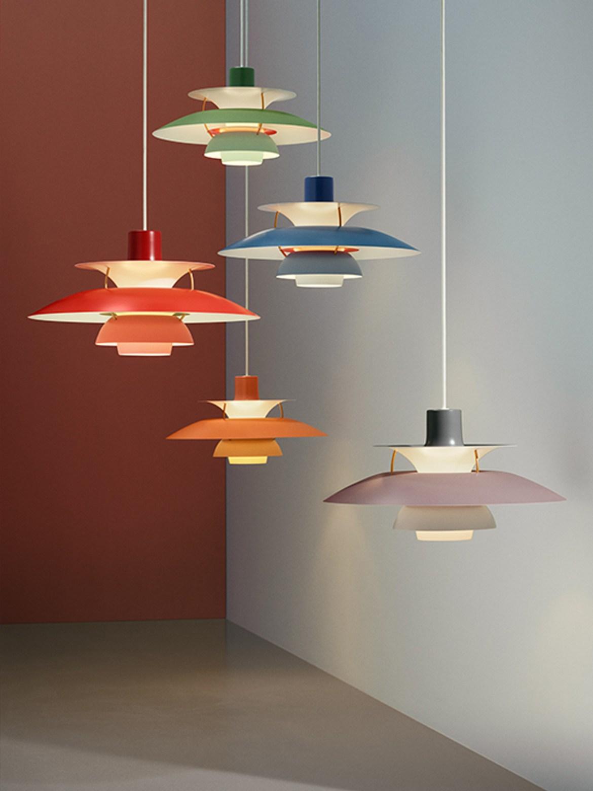 DesignOrt Blog: farbenfrohe Leuchten Poulsen PH 5 neue Farben
