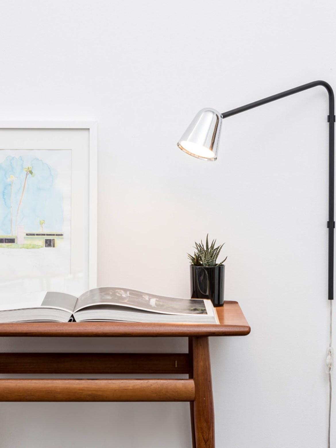 DesignOrt Blog: Schwenkarmleuchten LED Wandleuchte mit Schalter Chaplin Wall Formagenda