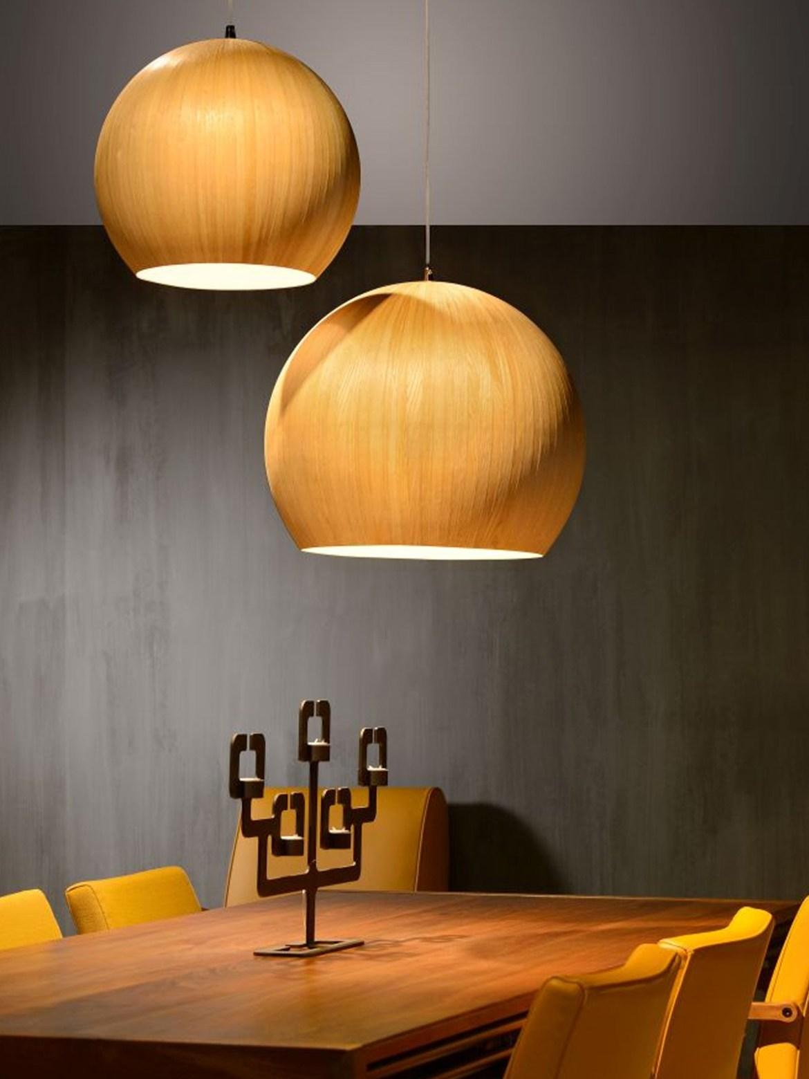 DesignOrt Blog: Die Designwelt von Lucide Bolstar kugelige Lampe aus Aluminium und Holz