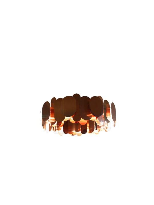 Innermost Panel Lampe in Kupfer
