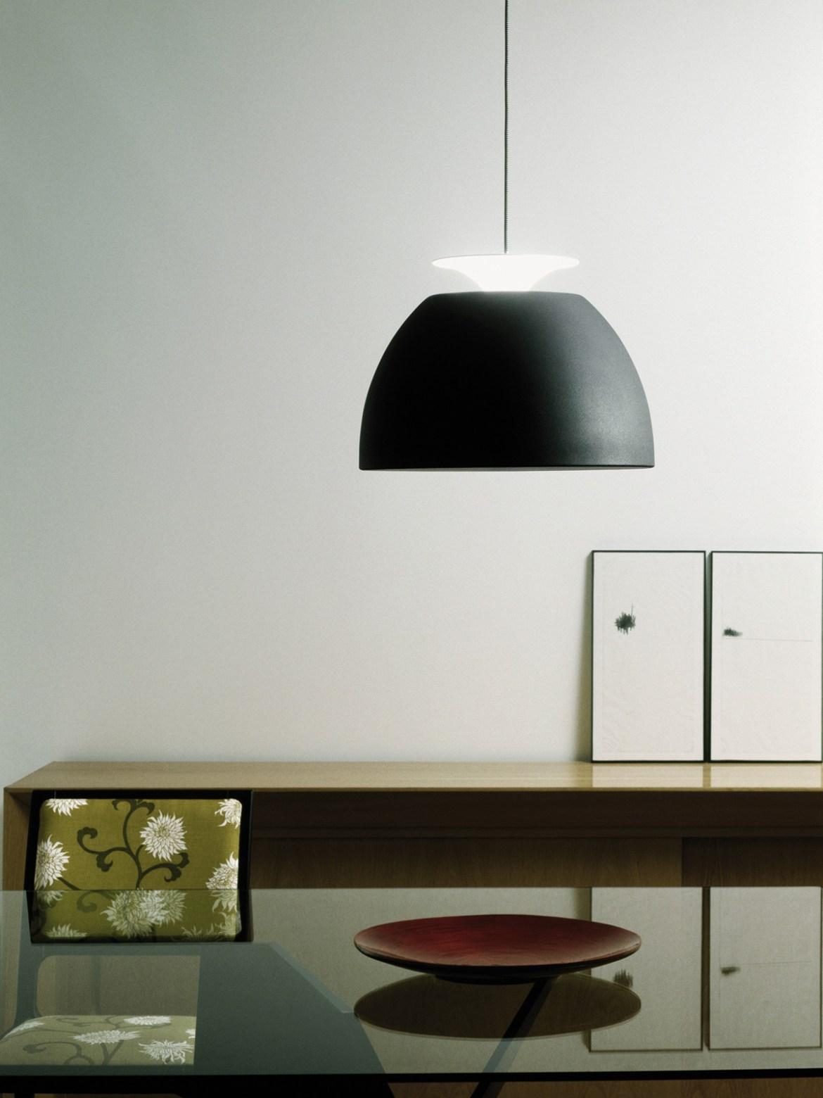 DesignOrt Blog: Designerleuchten in Schwarz-Weiß Bossa Designerleuchte Lumini