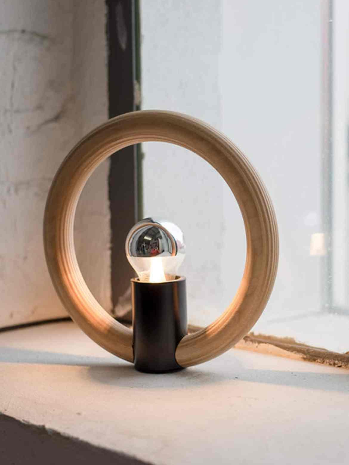Designort Blog Holzlampen Tischlampe Rink Domus Licht