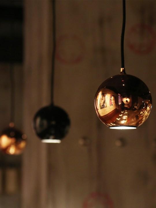 Innermost Boule Spotlight Kupfer und Schwarz