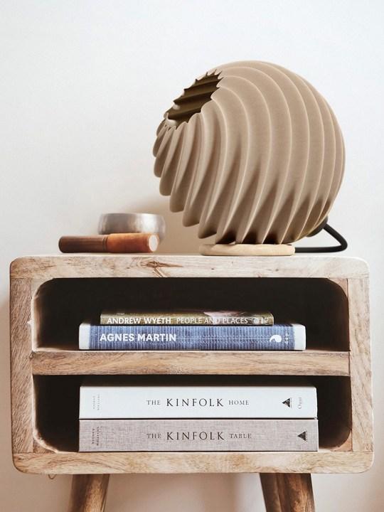 Polyluma Lampe Mono Table Holz Ripple