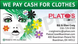 Business Cards: Plato's Closet 2012