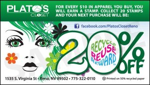 Loyalty Cards: Plato's Closet 2012 (front)