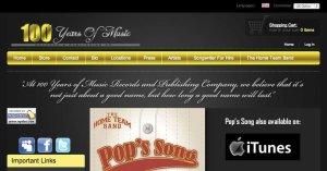 Website 100 Years of Music Zen Cart 800