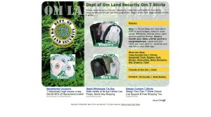 Om Land Security - HTML Website design
