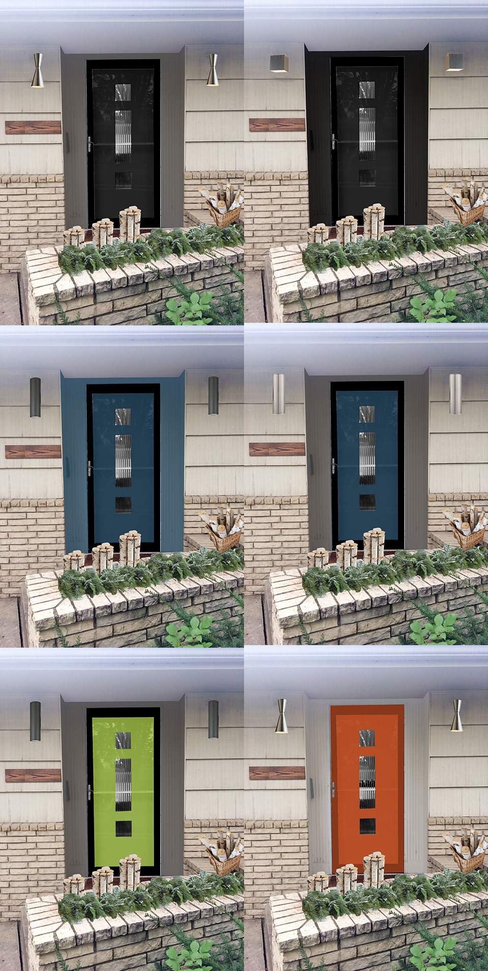 Increasing curb appeal with a few small changes designpetproject the dark recess with an accent colored door looks the best i think when we repaint the whole house i think black accents rubansaba